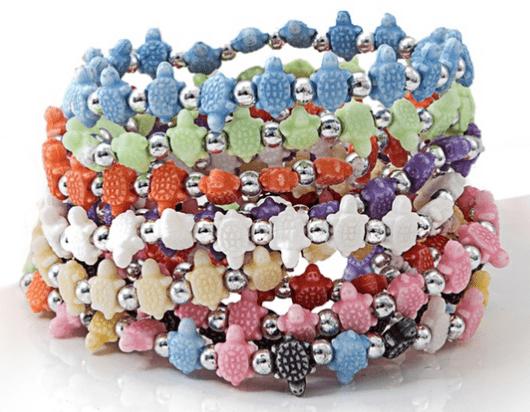 Trrtlz Animal-Shaped Beaded Stretch Bracelet Set