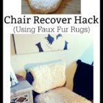 Use faux furs for this DIY Hack to recover a chair in your home.