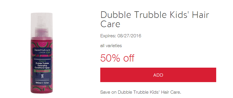 Dubble Trubble Organic Kids Hair Care – 50% Off At Target Through Tomorrow (LOVE This Stuff)!!
