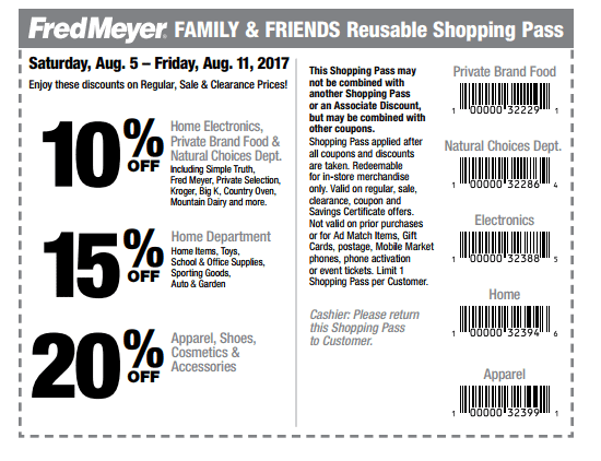 Fred Meyer Friends & Family Pass – Save up to 20% Off!