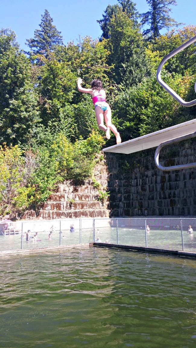 quarry pool high dive