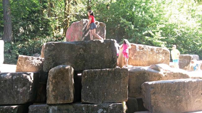 quarry pool rocks