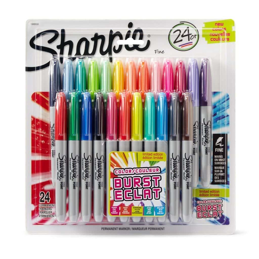 Sharpie Color Burst Permanent Markers, Assorted, 24/Pack