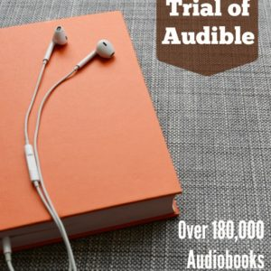 Sign up for an Audible Free Trial Membership to take advantage of over 180,000 audiobooks to try in the car, at the gym or in the kitchen!