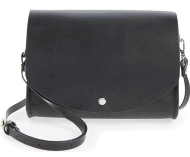 Cesca Faux Leather Crossbody Bag