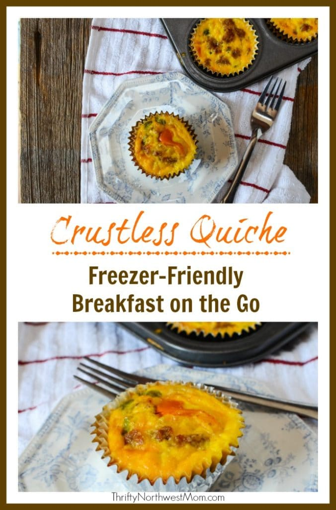 Crustless Quiche In Muffin Tins For Freezer Friendly Breakfast