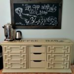 DIY Coffee Bar – Create Extra Counter Space by Converting An Old Dresser!