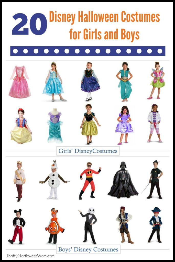 Disney Halloween Costumes for Girls and Boys , Thrifty NW Mom
