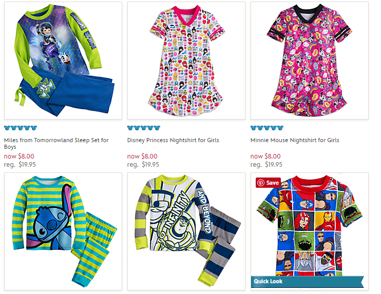 Disney Store – PJs only $8 – Today Only!