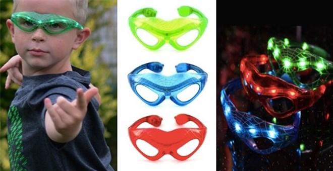 LED Light Up Super Hero Web Glasses – $3.99 (Perfect for Halloween)!
