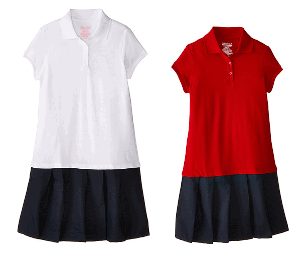 Nautica Kids Pique Dress with Poly Skirt (Big Kids) $12 (Reg $40)