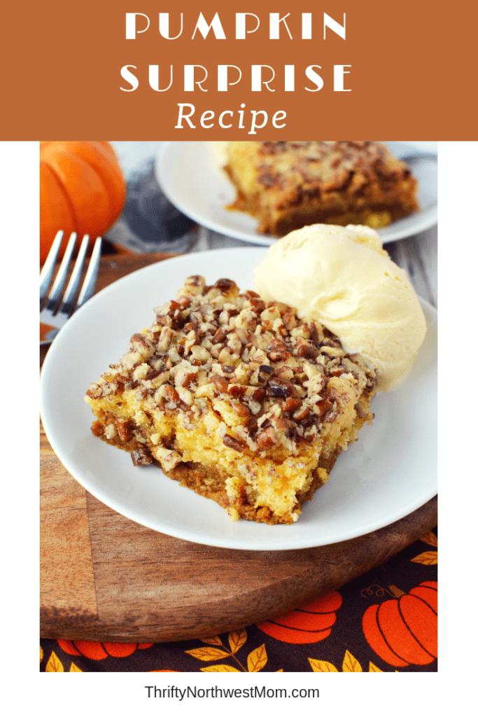 Pumpkin Cake Surprise Dessert – So Easy To Make!