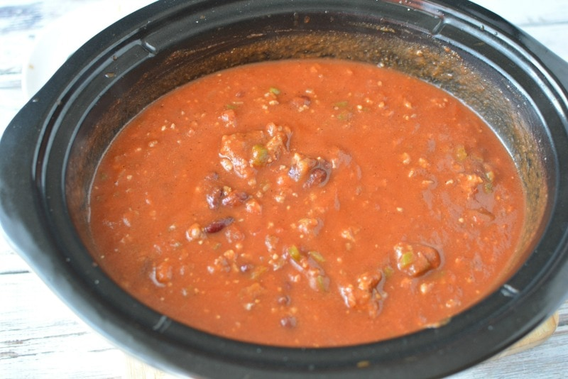 Sausage Pumpkin Chili in Crockpot