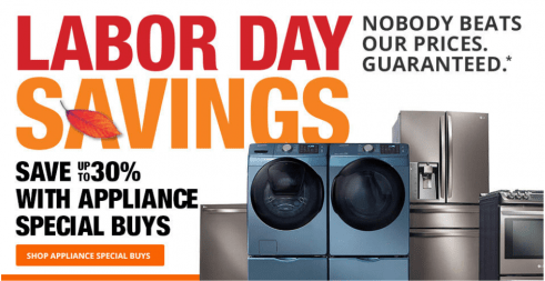 Home Depot Labor Day Sale