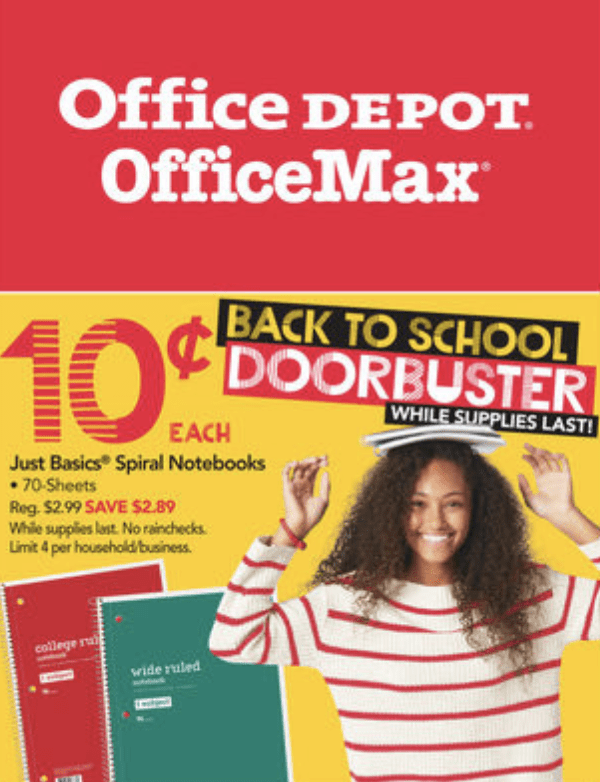 Office Max / Office Depot – Back to School Deals – $.10 Notebooks,  Composition Books $.50 & more!