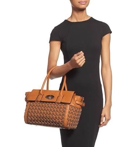 Sole Society Posey Woven Faux Leather Winged Satchel $35.96 (Reg $59.95)