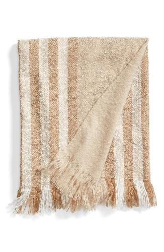 Stripe Knit Throw