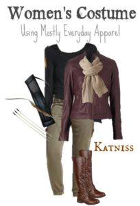 This DIY Katniss Costume offers a practical way to dress as the Hunger Games heroine, using clothes you can wear again.
