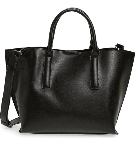 BP. Round Handle Faux Leather Tote