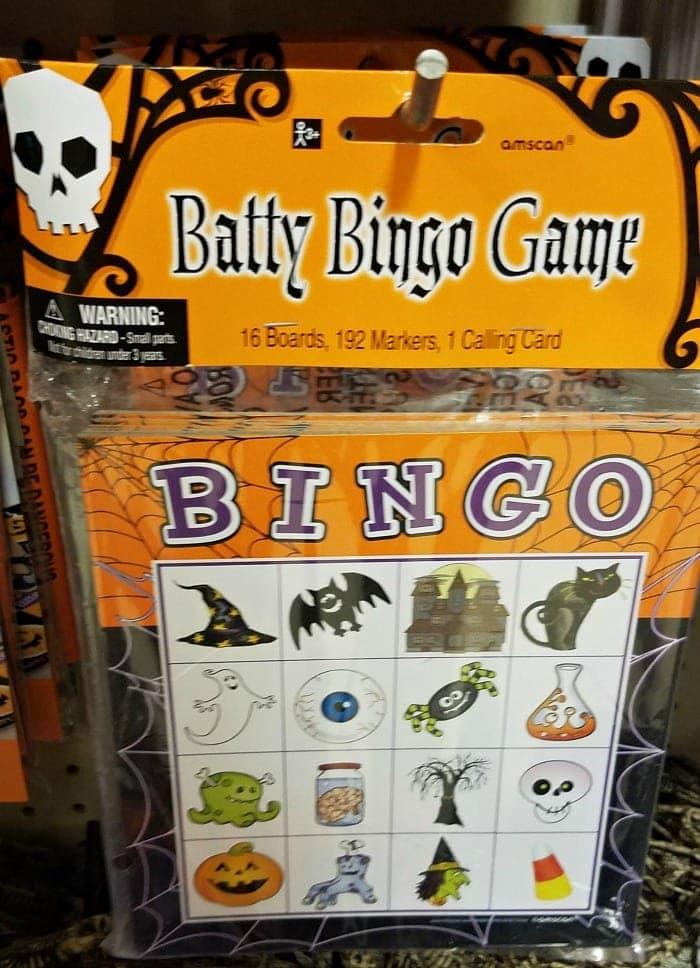 Halloween Bingo Game on Sale