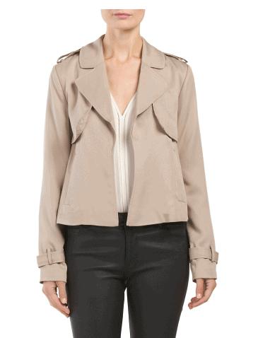 Harve Benard Short Trench Jacket $15