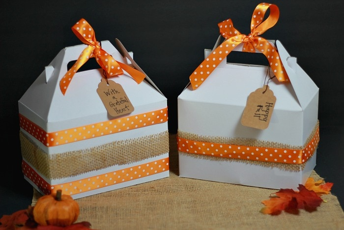 Mason Jar Pies Delivered in White Gable Boxes