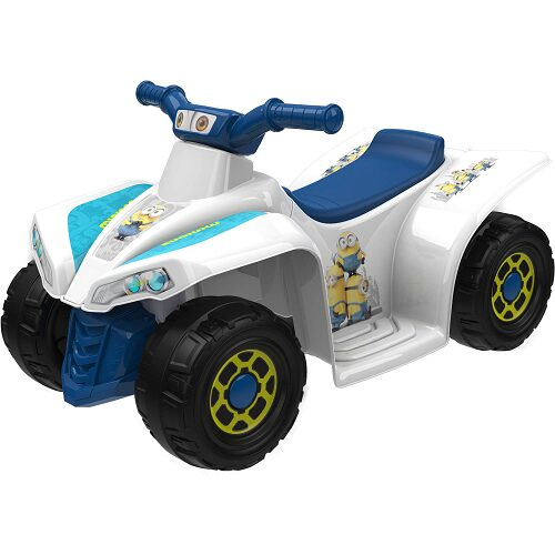 Minions 6-Volt Little Quad Electric Battery-Powered Ride-On $39 (Reg $79)