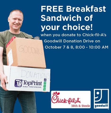 Chick Fil A Free Breakfast Sandwich