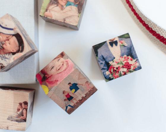 Custom Wood Photo Cubes