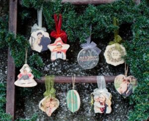 Photo Barn Wooden Photo Ornaments for $9 shipped