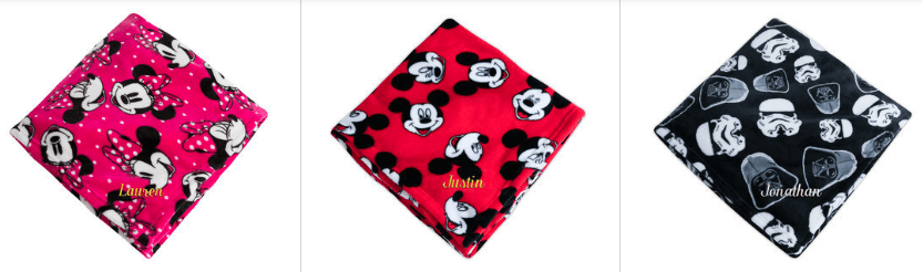 Disney Character Throws on Sale
