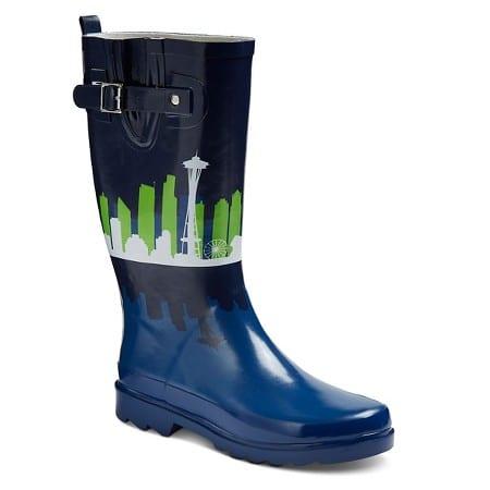 seattle-city-skyline-rainboots-in-seahawks-colors