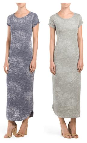 Short Sleeve Maxi Dress With Cuff $15!