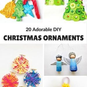 Here are 20 Adorable DIY Christmas Ornaments to make for gifts or to keep & admire every year on your Christmas tree.
