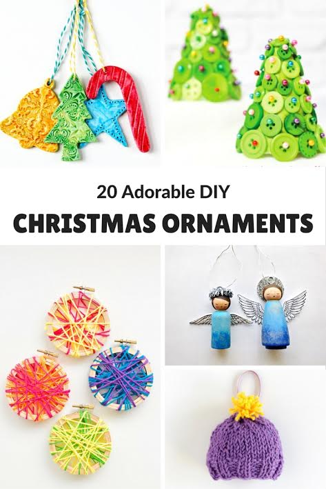 Here are 20 Adorable DIY Christmas Ornaments that adults can make for handmade gifts, gift exchange or to keep & admire every year on your Christmas tree.
