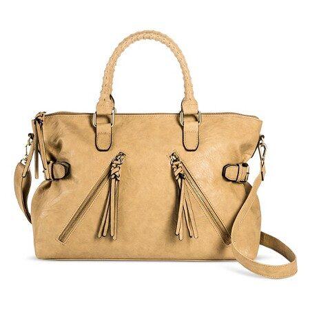 Bueno Women's Faux Leather Satchel Handbag with Zip Closure $19.98 (Reg $39.99)
