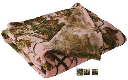 Cabela's Camouflage Coral-Fleece Throw $7.99 (Reg $19.99)