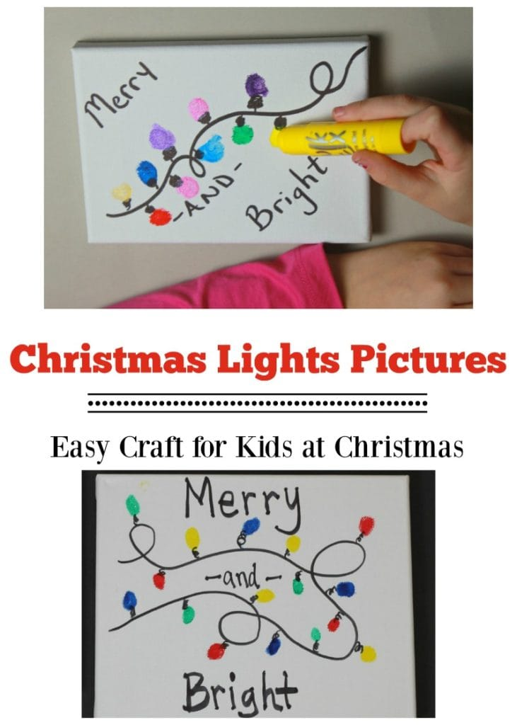 Christmas Lights Crafts for Kids