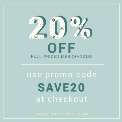 Getz's Sale – 20% OFF Full Price Item With Coupon Code