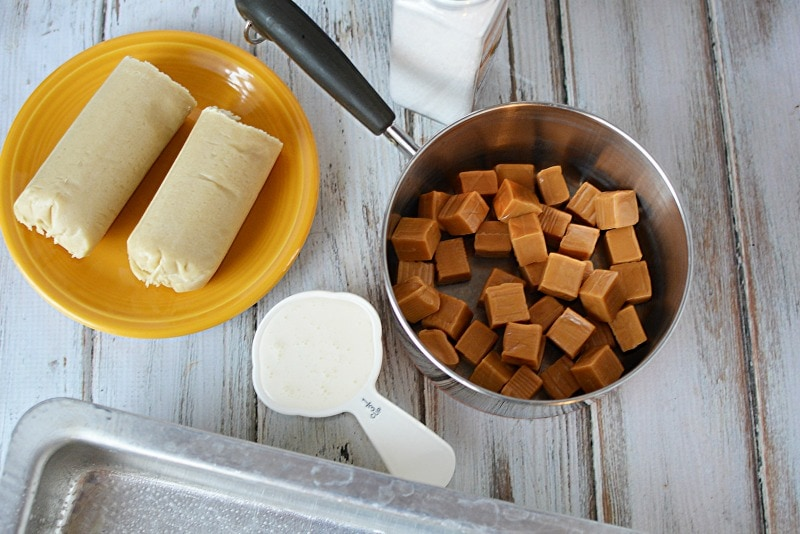Ingredients for Salted Caramel Bars