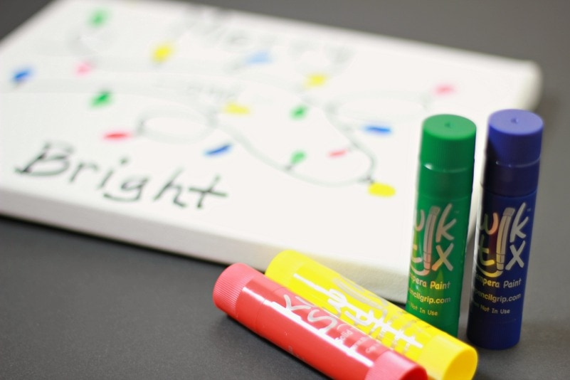 Kwik Stix with Canvas Paintings
