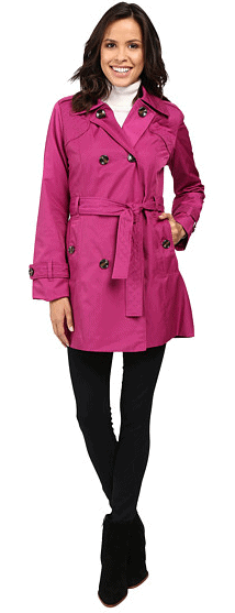 London Fog Belted Trench Coat with Quilted Detailing $69.99 (Reg $275)