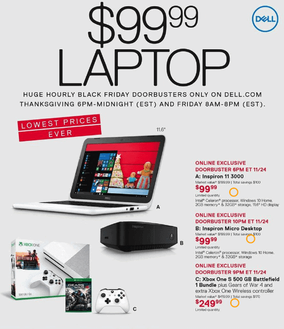 Dell Black Friday Deals 2016