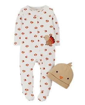 Joy Newborn Sleeper & Hat Thanksgiving Sale