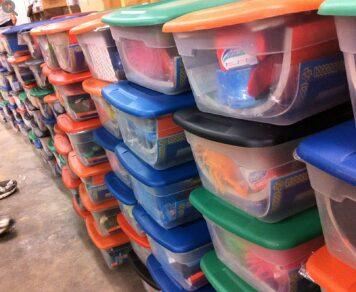 Operation Christmas Child Shoeboxes Assembled