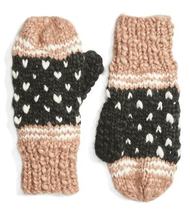 Pom Knit Mittens