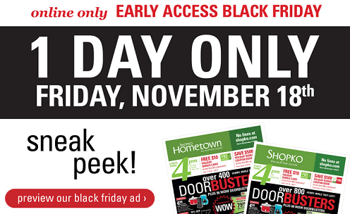 Shopko Online Only Early Access Black Friday Deals