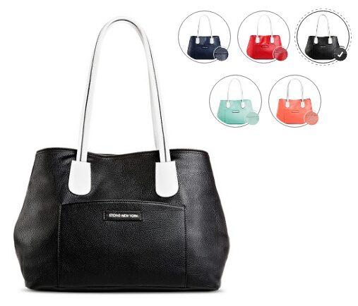 Stone NY Women's Tote Handbag with Snap Closure $13.98!
