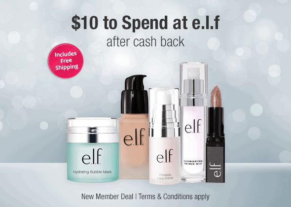 TopCashback Deal: FREE $10 To Spend At e.l.f. After Cashback And Free Shipping