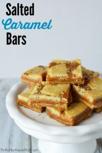 With just 5 ingredients, these Salted Caramel Bars are a fast & easy treat for a holiday party.